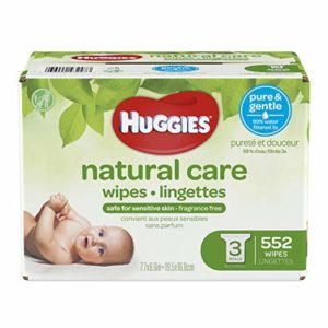 HUGGIES Natural Care Unscented Baby Wipes, 552 count as low as $10.62 Shipped!