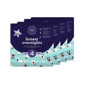 Honest Overnight Baby Diapers, Size 4, 104 Count Only $28! (reg. $55.99)