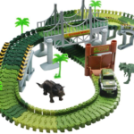 Lydaz Race Track Dinosaur World Bridge Car & Flexible Track Playset Only $19.79!