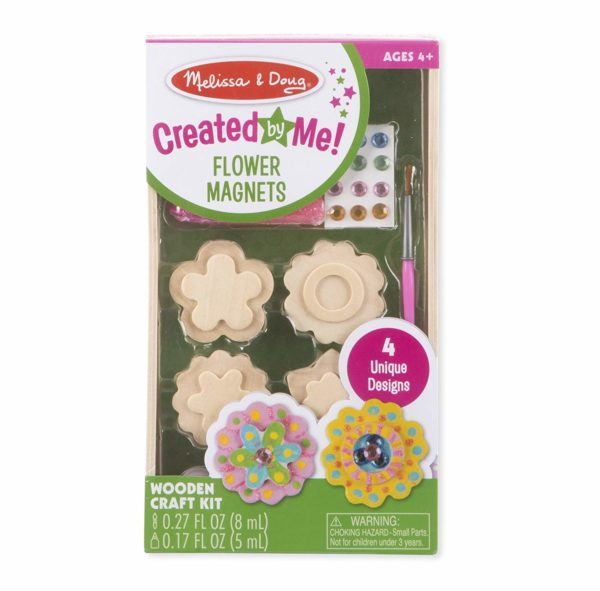 Melissa & Doug Created by Me! Flower Wooden Magnets Craft Kit