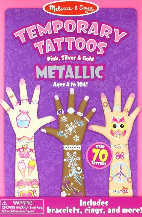 Melissa & Doug Metallic Temporary Tattoos