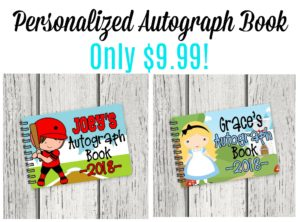 Personalized Autograph Book Only $9.99!
