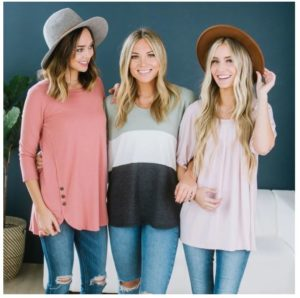 Spring Basic Tunic Collection Only $9.99!!