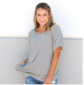 Striped Flare Sleeve Tunic was $42.99, NOW $9.99!