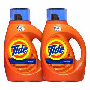 Tide Original Scent HE Turbo Clean Liquid Laundry Detergent, 50 Fl Oz, 2 count Only $10.38!