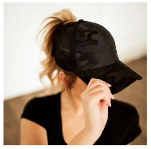 Camo Messy Bun Hat Only $9.99!