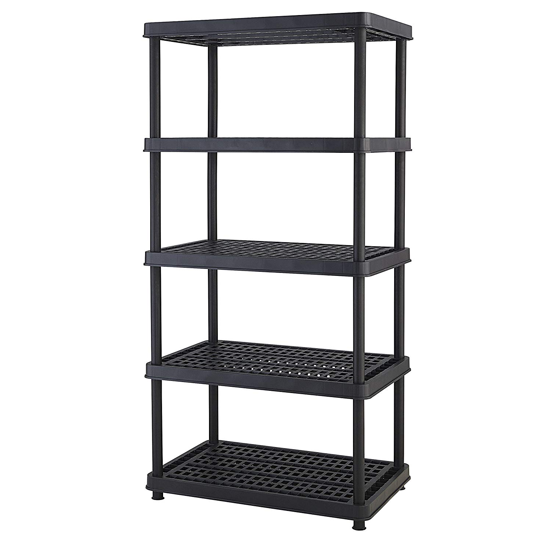 Keter 5 Shelf Heavy Duty Storage Rack Only 39 98