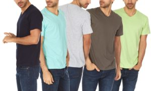 Men's Super Soft V-Neck Tees 6-Pack Only $16.99!