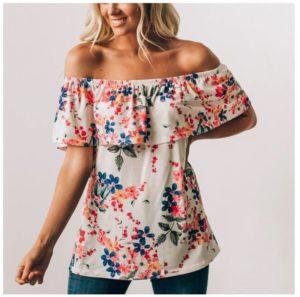 Off Shoulder Floral Top was $42.99, NOW $16.99!