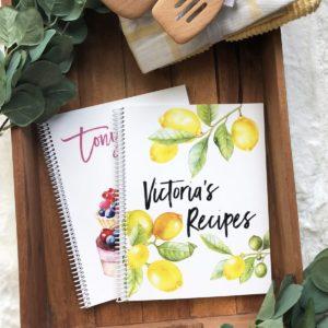 Personalized Kitchen Recipe Journals was $24.99, NOW $13.99!