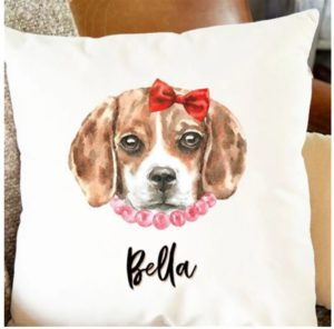 Personalized Watercolor Dog Pillow Covers Only $15.99 Shipped!