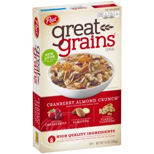 Kroger: Post Great Grains Cereal Only $1.29!