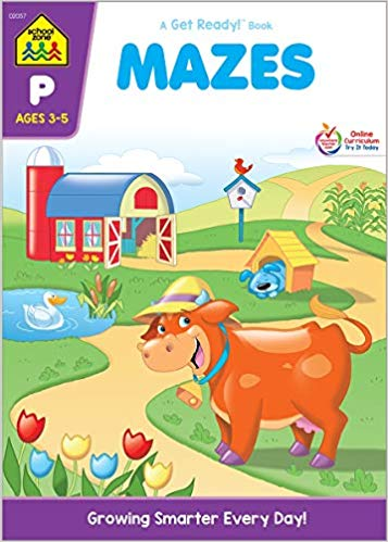 School Zone Mazes Workbook Only $2.99!