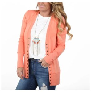 Snap Cardigan was $37.99, NOW $13.99!