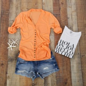 Snap Cardigan 3/4 Sleeve was $37.99, NOW $12.99!