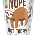 Tervis Sloth Nope Not Today Insulated Tumbler with Wrap and Pink Lid Only $11.13! Best Price!