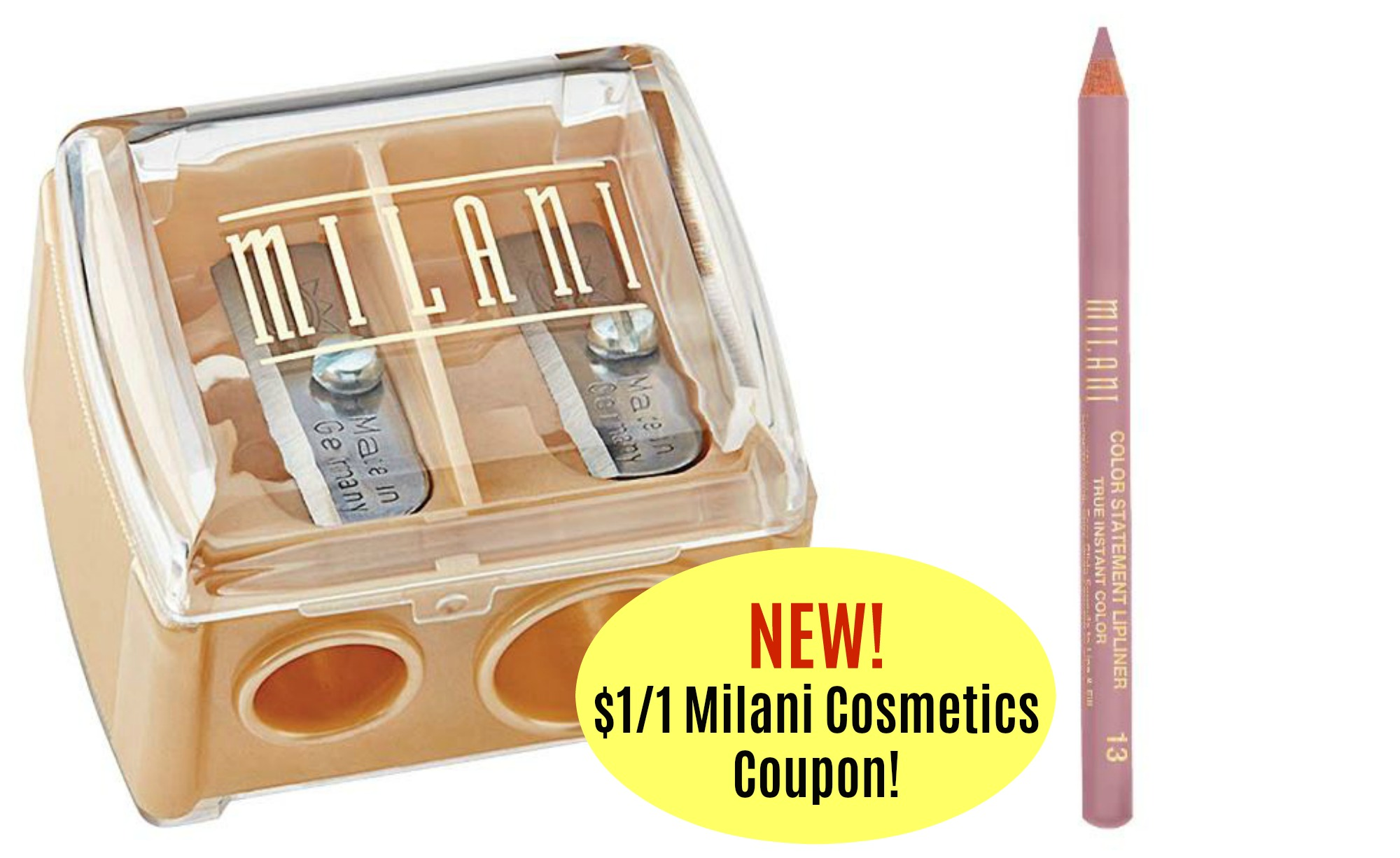 photograph regarding Milani Printable Coupon named Fresh Milani Cosmetics Products and solutions Coupon! As reduced as $1.47 at