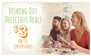 $15 Restaurant Gift Cards Only $3.00!
