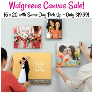 16×20 Photo Canvas Only $19.99 + FREE Same Day Pick Up!
