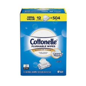 Sam's Club: Cottonelle Flushable Wipes 504ct Only $11.98!