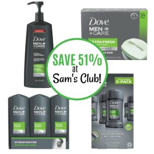 Save 51% on Dove Men+Care Products at Sam's Club!
