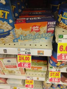 Kroger: Jolly Time Healthy Pop Microwave Popcorn 4-pack Only $0.50!
