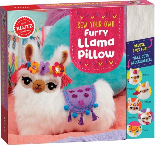 Sew Your Own Furry Llama Pillow Kit