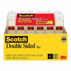 Scotch Brand Double Sided Tape, 6 Dispensered Rolls Only $9.98!