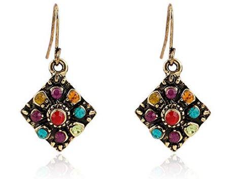 Bohemian Rhinestone Earrings