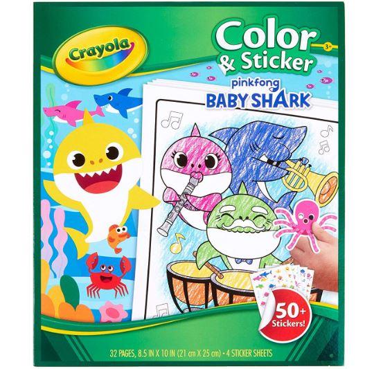 Crayola Baby Shark Color & Sticker Book