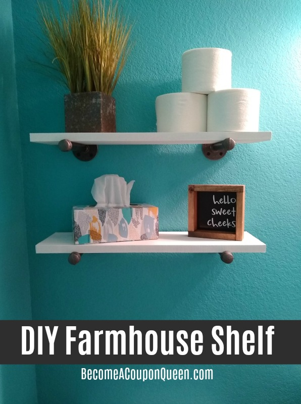 DIY Farmhouse Shelf – Bathroom Update!