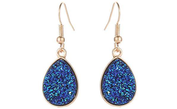 Druzy Water Drop Earrings