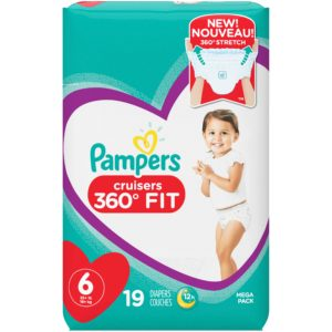 Pampers Cruisers 360˚ Fit Diapers 19-29 Count Only $4.94!