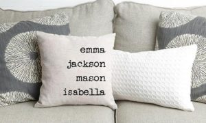 Personalized Family Name Throw Pillow Covers Only $4.00!!