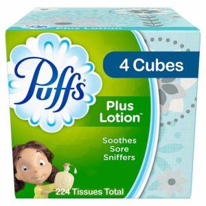Puffs Plus Lotion Facial Tissues, 4 Cubes as low as $3.50 – $0.63/box!