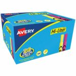 Avery Hi-Liter Desk-Style Highlighters, 24 Assorted Colors as low as $7.58!