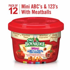 Chef Boyardee Mini-Bites ABC's & 123's Pasta with Meatballs 12 Ct. as low as $10.10!