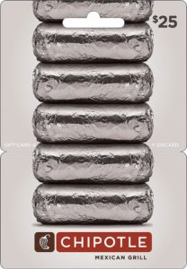 Save 10% on a $25 Chipotle Gift Card!