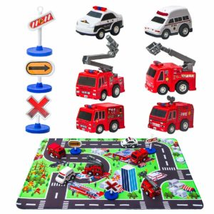 Fire Truck Toys with Play Mat Only $8.99!