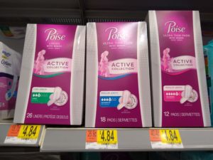 Walmart: Poise Active Collection Pads and Liners Only $0.84!