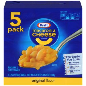 Kraft Original Macaroni & Cheese Dinner, 5 pack as low as $3.29! ($0.66/box)