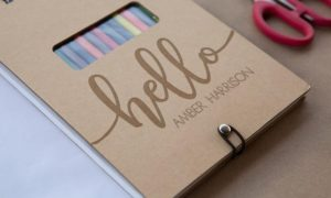 Personalized Sketch Pad with Colored Pencils Only $4! Gift Idea!