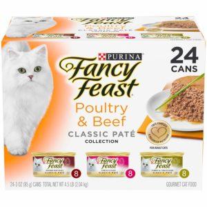 Purina Fancy Feast Grain Free Pate Wet Cat Food Variety Pack as low as $9.47!