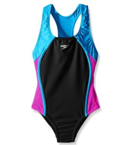 *HOT* Speedo Girls Mesh Splice Thick Strap One Piece Swimsuit Only $12.50!!