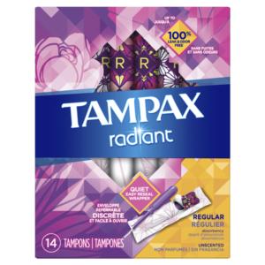 Kroger: Tampax Radiant Tampons Only $0.99!