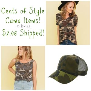 Cents of Style Camo Items as low as $7.48 Shipped!