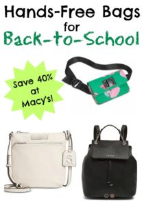 Hands-Free Bags for Back to School at Macy's!