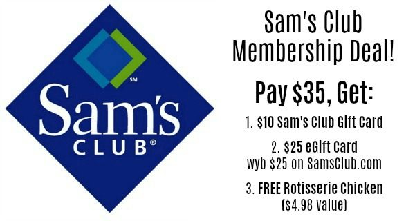 Sam's Club Membership Only $35 + FREE Gift Cards ($35) +
