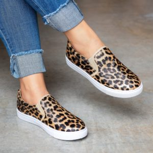 Animal Print Slip-on Sneakers (Snake or Cheetah) Only $21.99 Shipped!