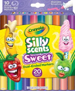 Crayola Silly Scents Dual Ended Markers, 10 Count Only $2.97!